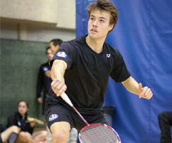 Autre brillante performance au badminton