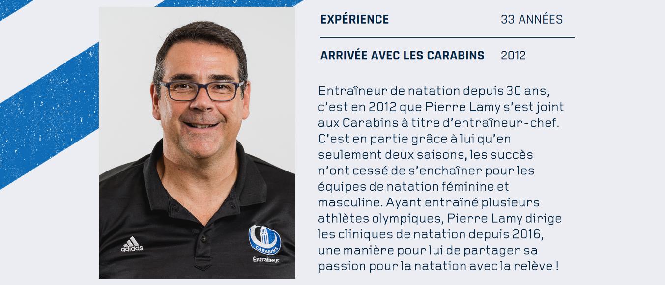 Pierre Lamy - entraîneur de natation Carabins
