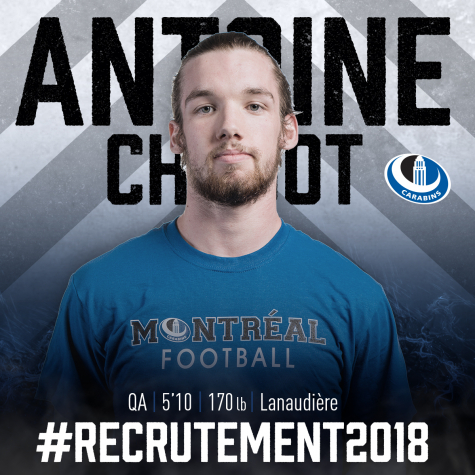 Antoine Chabot se joint aux Carabins